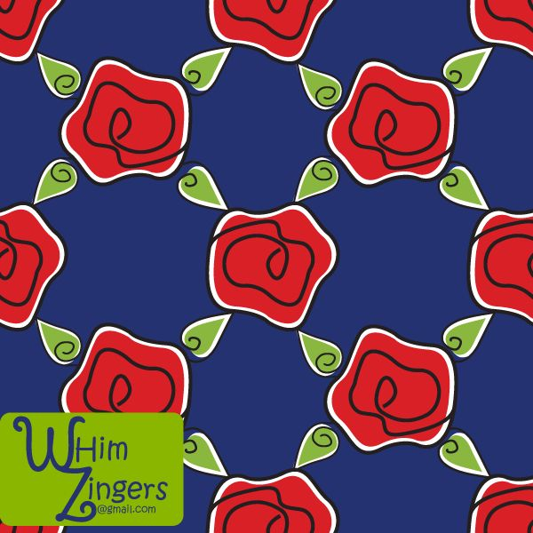A digital repeat pattern for seamless tiling. #repeatpattern #seamlesspattern #textiledesign #surfacepatterndesign #vectorpatterns #homedecor #apparel #print #interiordesign #decor #repeat #pattern #repeat #repeating #tile #scrapbooking #wallpaper #fabric #texture #background #whimzingers #flowers #roses #stripes #red #blue #green