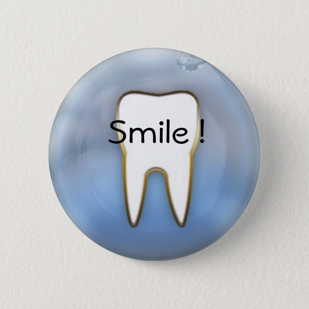 Smile cool dental hygienist pin, Dental hygienists and Dentists will love this abstract modern tooth design. Great to give to kids who learn to brush or visited the dentist. See our store for dental practice gifts and apparel for the dentist, dental hygienist and dental assistant. Find hilariously funny dentist humor mugs, aprons and tshirts! Plus, we also carry dental humor magnets and buttons to wear, display or give away!