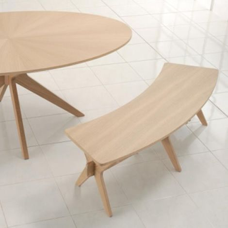 Round Table With Curved Bench Seating Http Www Worldstores Co Uk P Malmo Bench Htm Wood Dining Bench Curved Bench Apartment Design