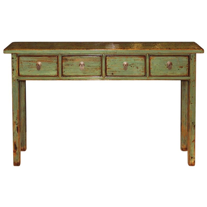 1940s Asian Green Console Table Console Table Diy Sofa Table