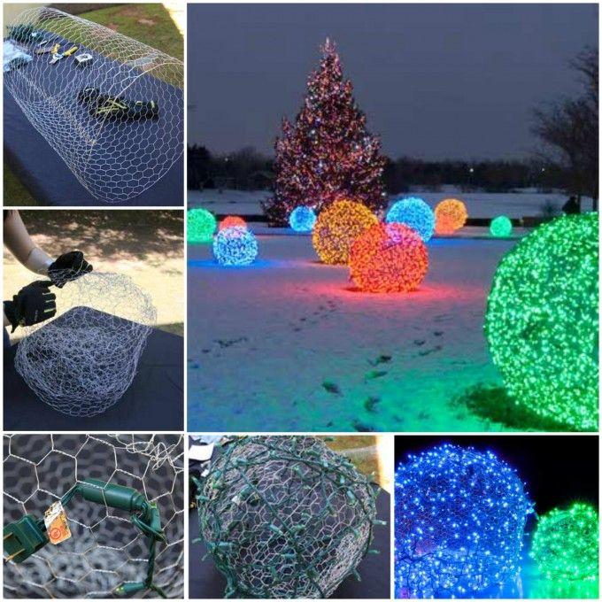 Christmas Light Craft Ideas Part - 21: 50+ DIY Christmas Decorations Ideas 2017