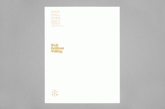 Project Projects \u2014 Rich Brilliant Willing identity in Letterhead - letterhead example