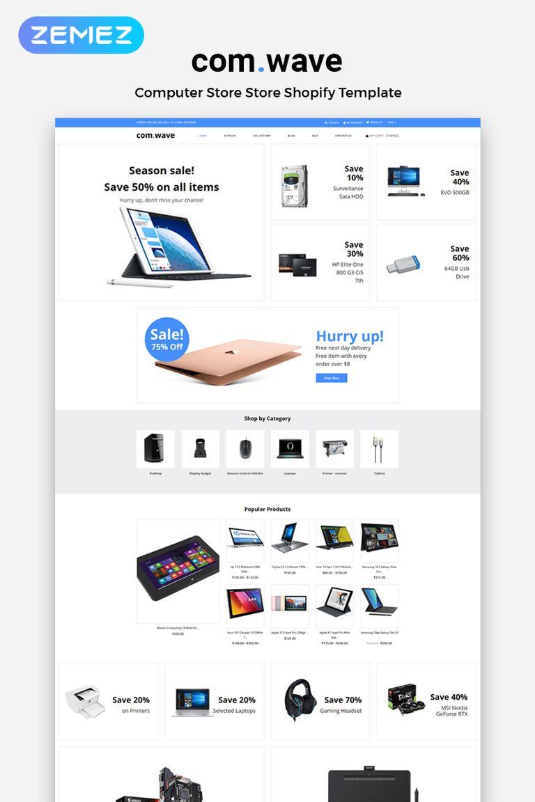 Com.Wave Electronics Store Clean Shopify