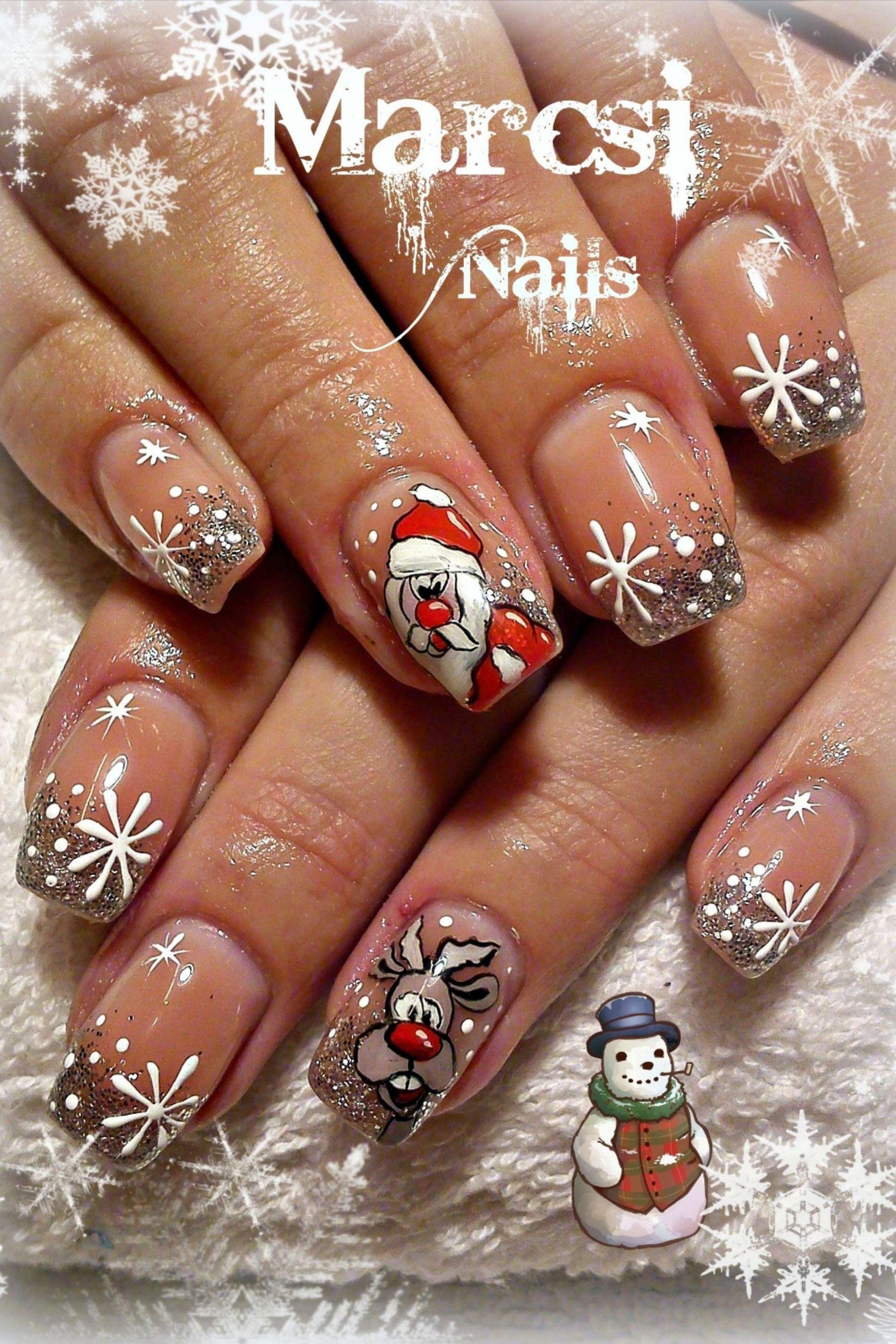 Nail Art Here Comes Santa Daily Nails Xmas Nail Art Christmas Nail Designs Cute Christmas Nails