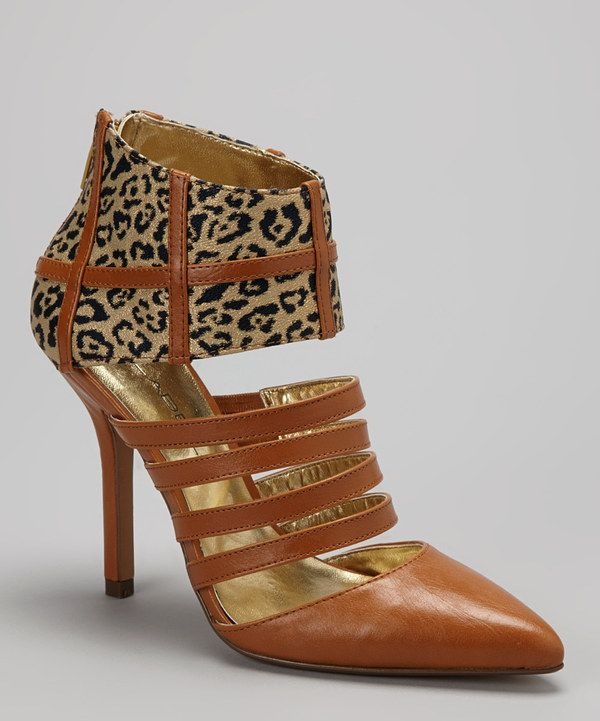 Take a look at this C Label Tan & Gold Leopard Pump on