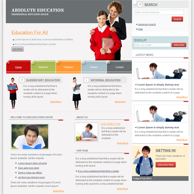 educational web template koni polycode co