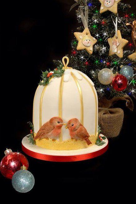 Robin Christmas Cake Centre Piece