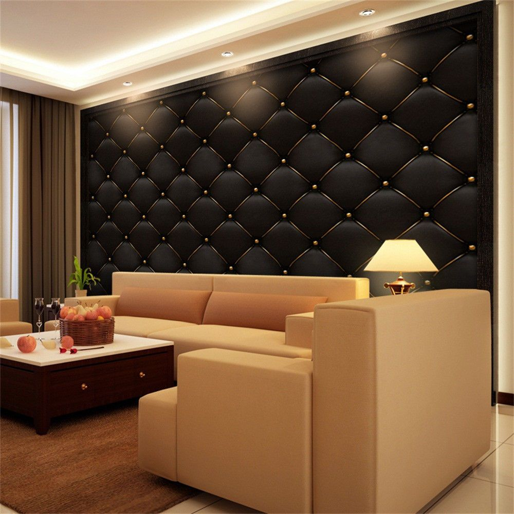 3d Vintage Leather Textured Wallpaper Pvc Mural Realistic Look Waterproof Hot Ebay Home Garden Geometric Wallpaper Decor Textured Wallpaper Wallpaper Decor #textured #wall #in #living #room