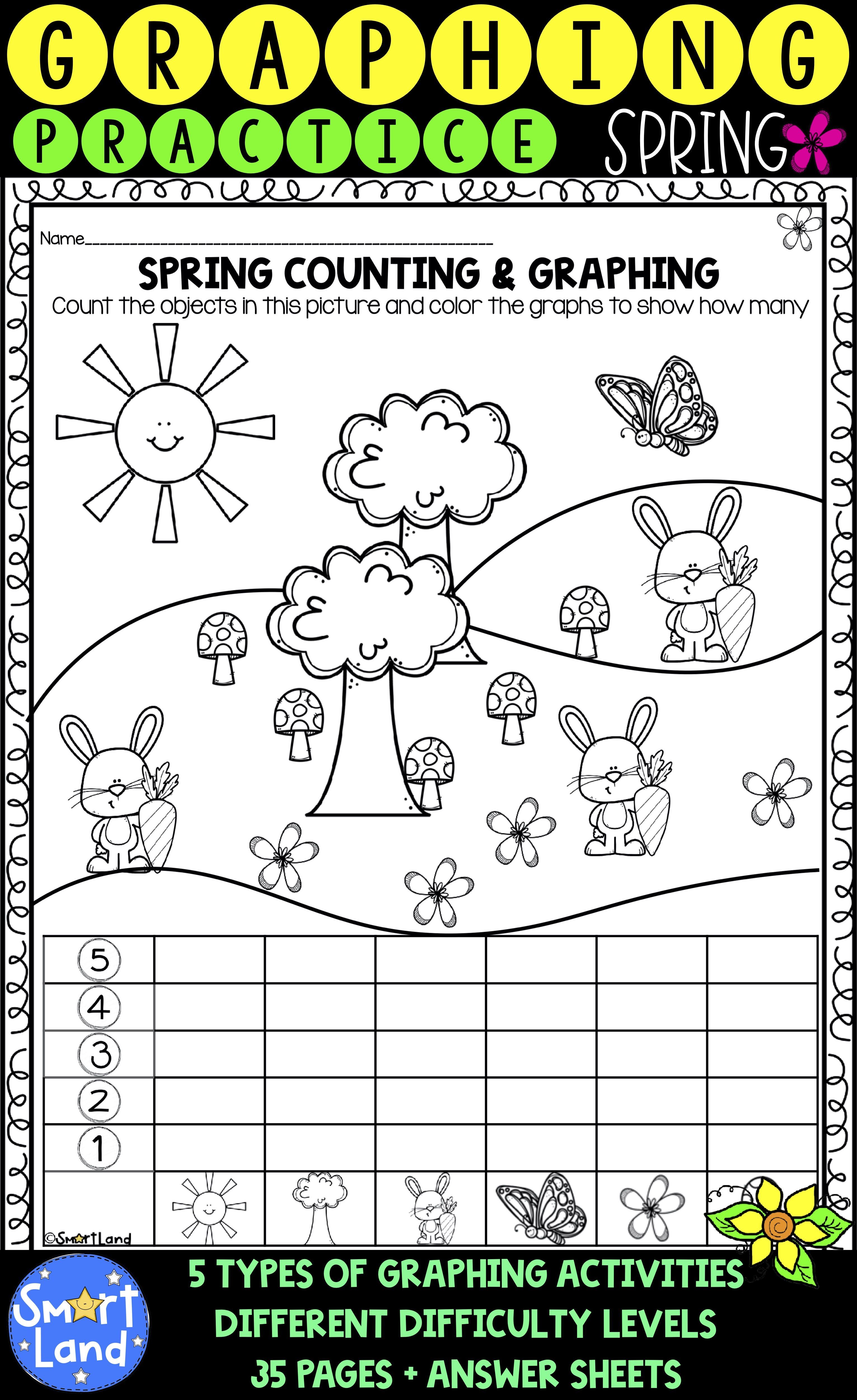 Graphing And Counting Spring Edition