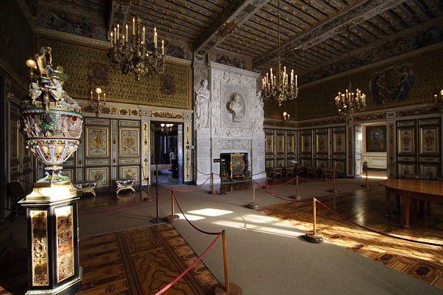 Интерьер Château de Fontainebleau (Замок Фонтенбло)