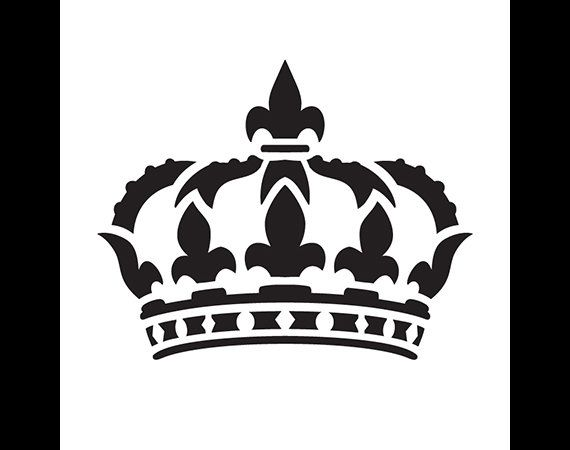 Corona De La Reina Arte Stencil Seleccione Tamano Por Studior12