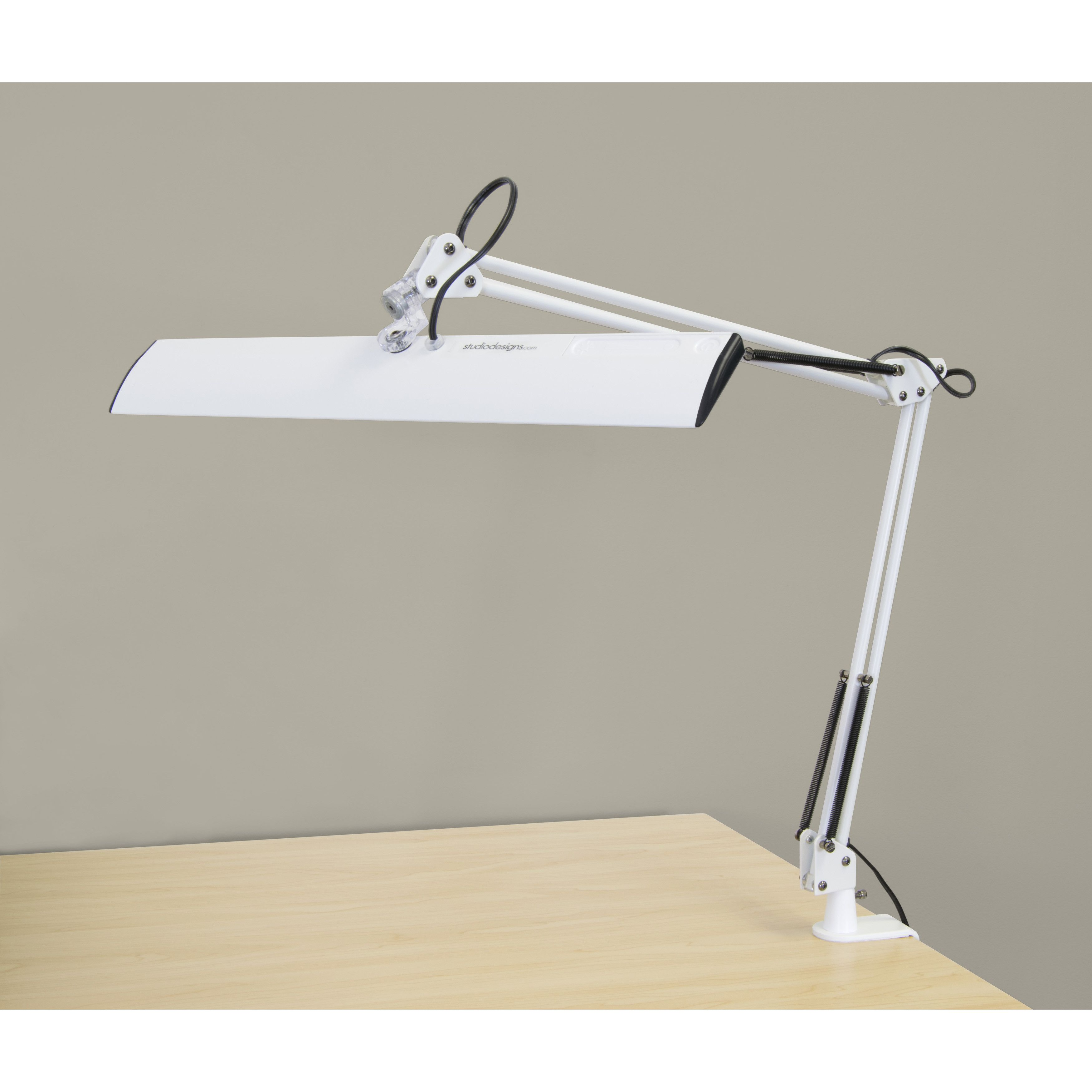 360 Lighting Modern Desk Table Lamp LED Satin Nickel Metal Adjustable Arm Head for Office Craft Hobby