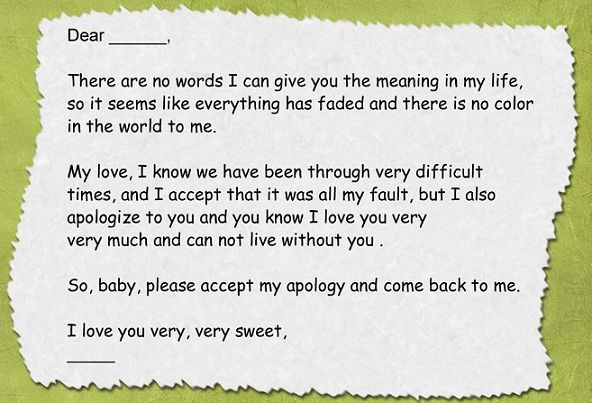 Sample Love Letter Format Sincere Letters To Boyfriend Template