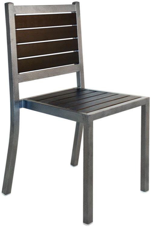 Plastic Teak And Metal Patio Chair Metal Patio Chairs Metal