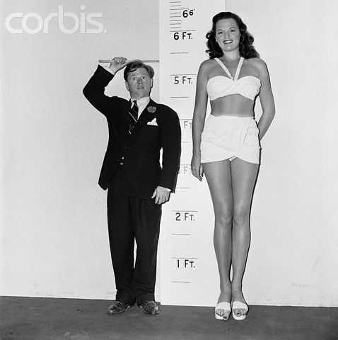 """Dorothy Ford (6'2""""!) was a model, turned movie star who ..."""