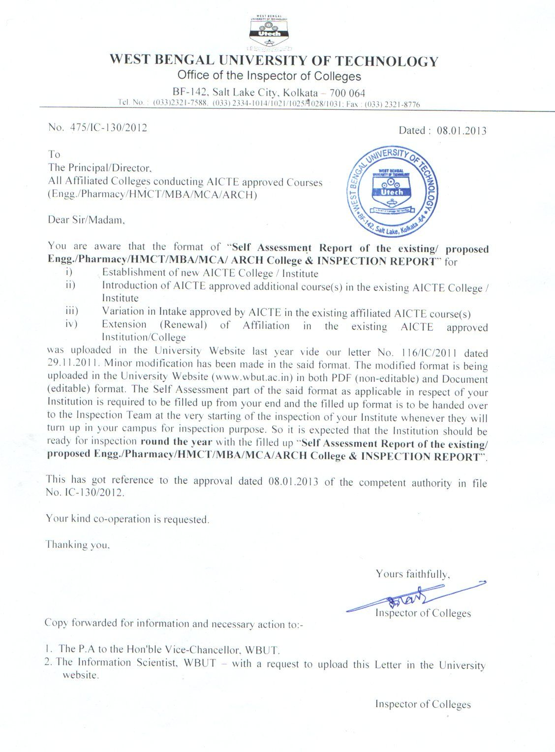aicte colleges for new renewal affiliation pdf format doc job ...
