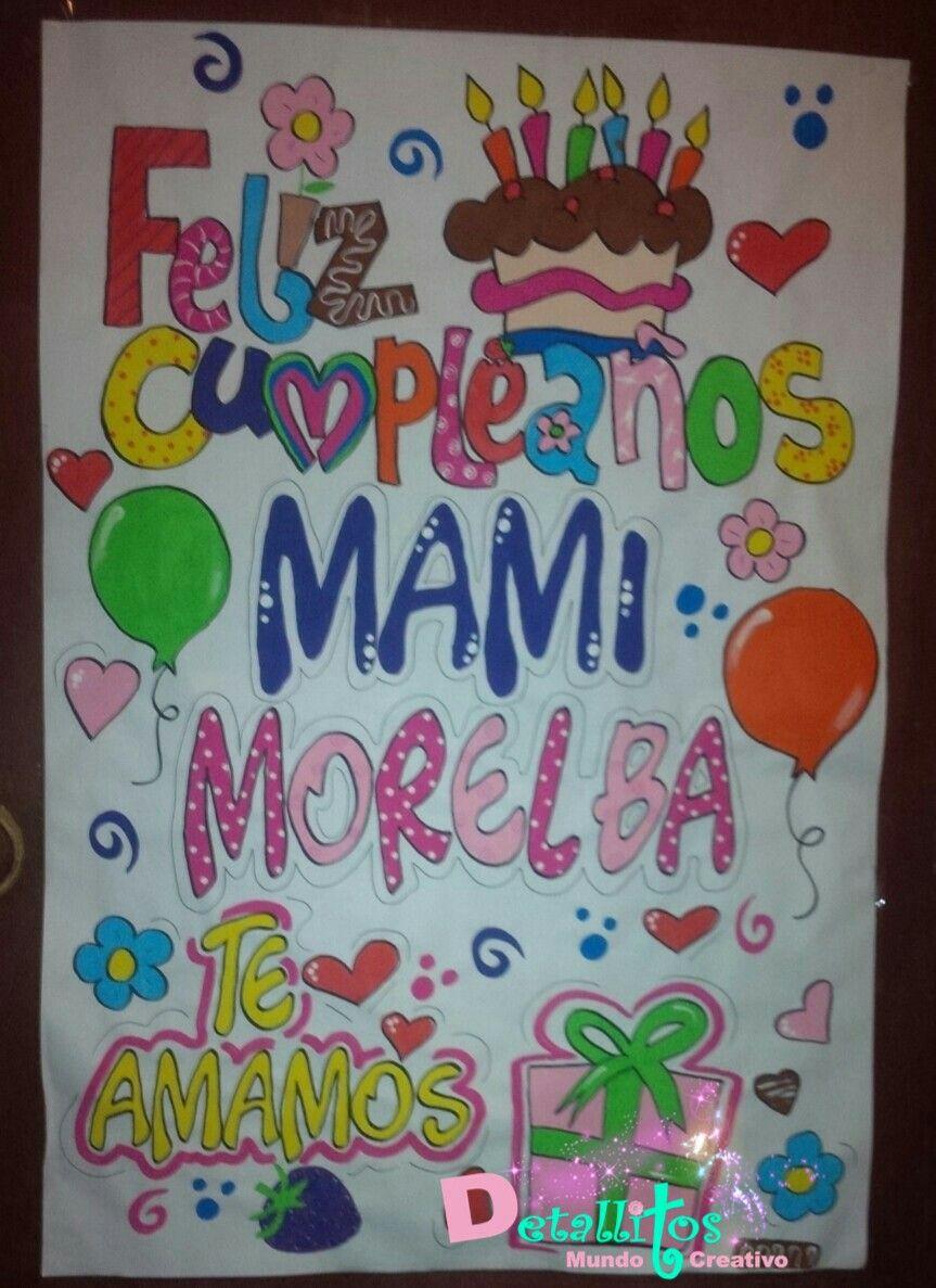 Pancarta De Cumpleanos Para Mama Pancarta De Cumpleanos