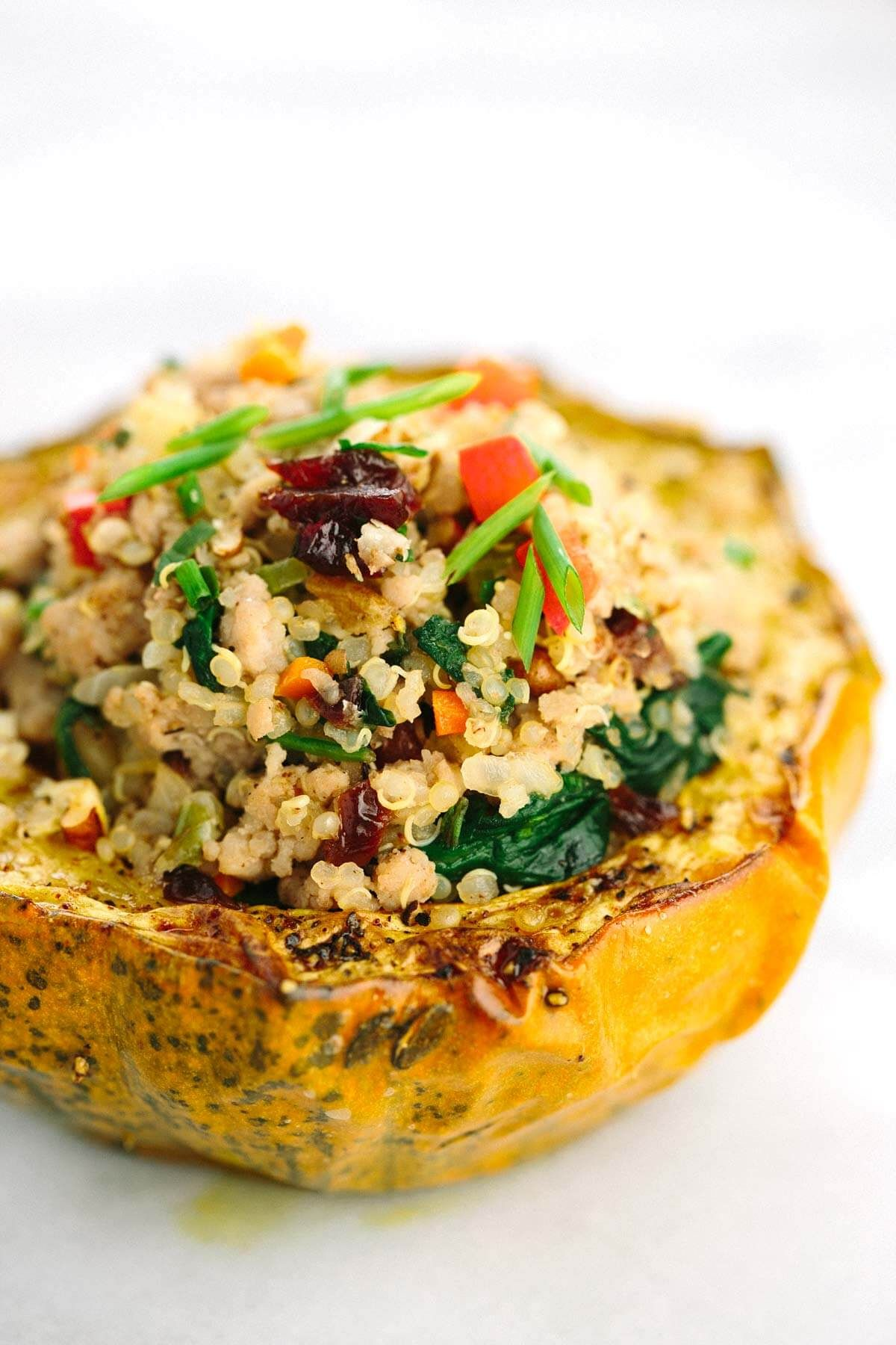 Stuffed Acorn Squash With Ground Turkey Recipe Acorn Squash