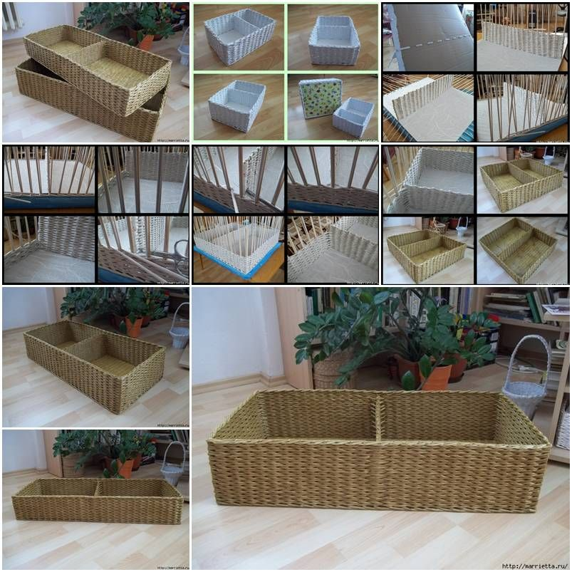 Basket Weaving Using A Paper Cup : How to make storage baskets with newspaper step by