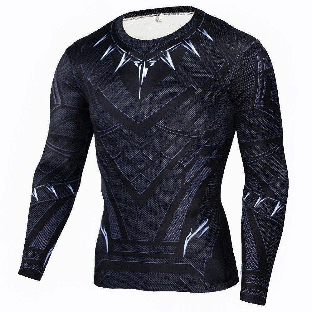 SPIDERMAN Compression Shirt for Men (Long Sleeve). Hot Sale Fitness MMA  Compression Shirt Men Anime Bodybuilding Long Sleeve Crossfit Superman ... 7d77c774e383f