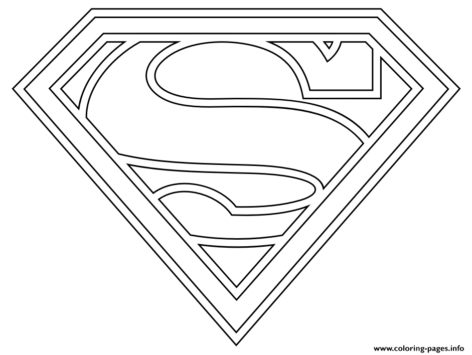 Awesome Superhero Logos Coloring Pages