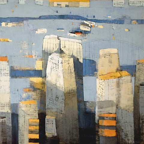 paul balmer, Working out of his Soho studio, Balmer paints the city from a perspective influenced by his South African roots and his love of abstraction.