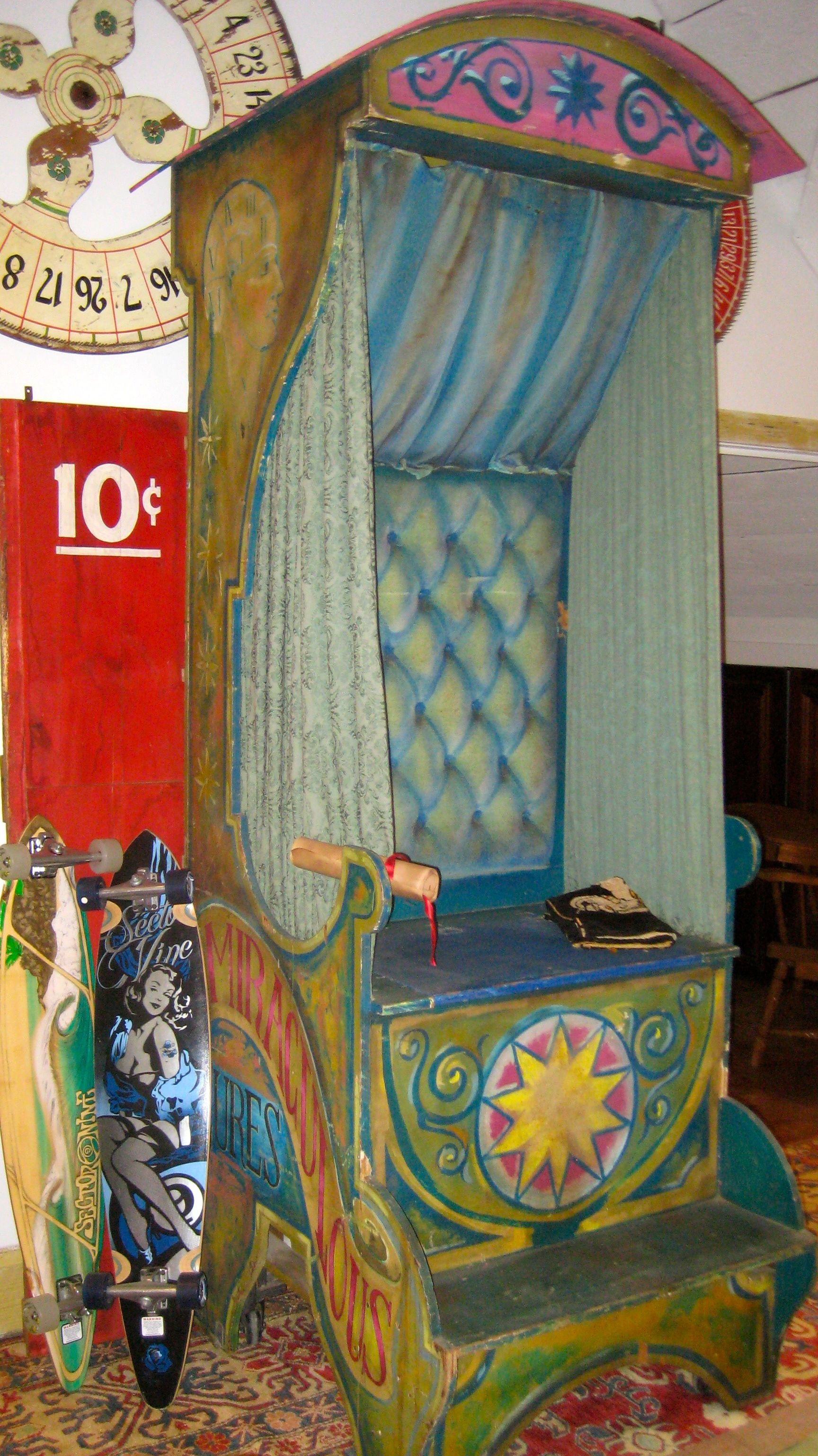 Fortune Teller's booth, everybody needs one of these