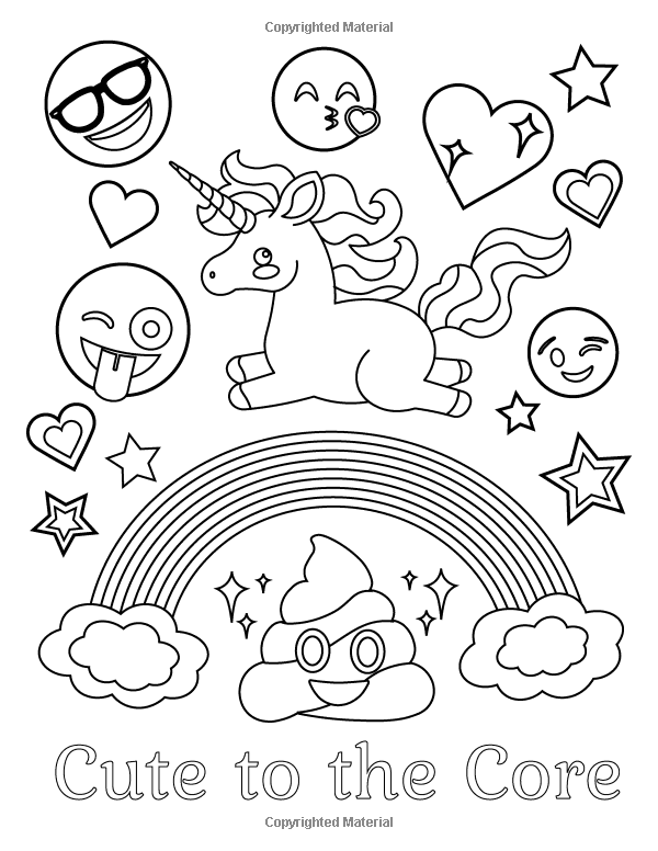 Amazon Com Emoji Coloring Book Of Funny Stuff Cute Faces And