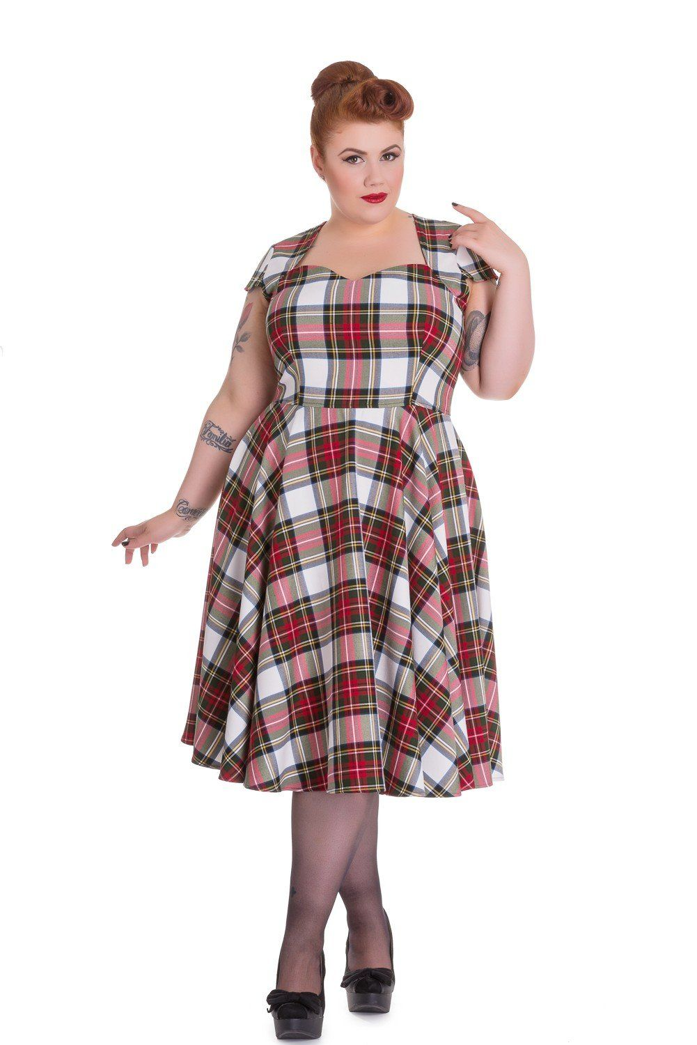 740f4ddd222ba8 Aberdeen Red Plaid Dress by Hell Bunny | Millie Girl Style! | Tartan ...