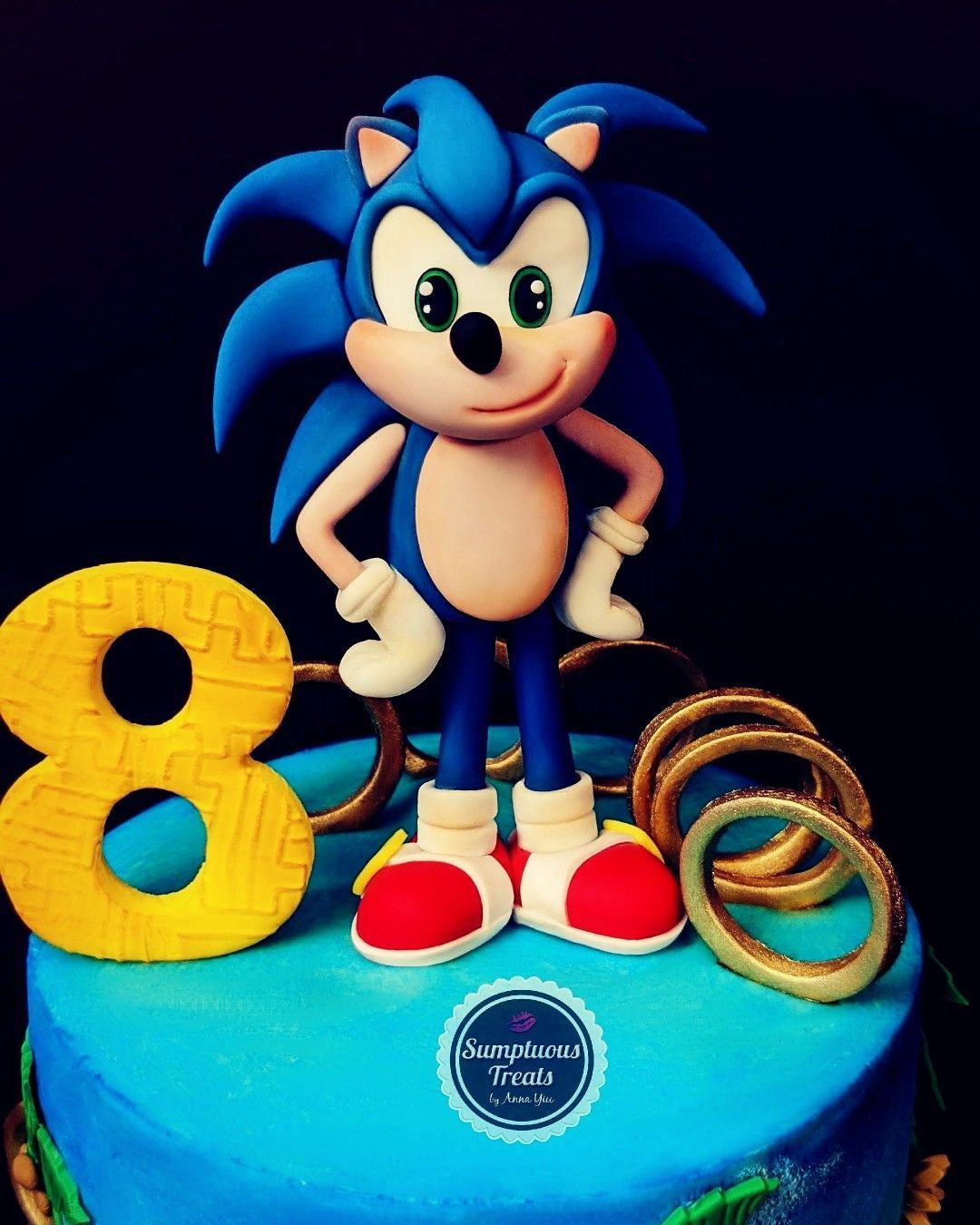 Sonic The Hedgehog Cake Topper Sonic Sonicthehedgehog Sonicthemecake Nintend In 2020 Hedgehog Cake Sonic The Hedgehog Cake Sonic Cake