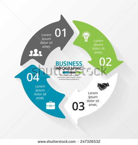 Stock vector vector circle infographic template for cycle diagram stock vector vector circle infographic template for cycle diagram graph presentation and round chart 247326532g 450470 ccuart Choice Image