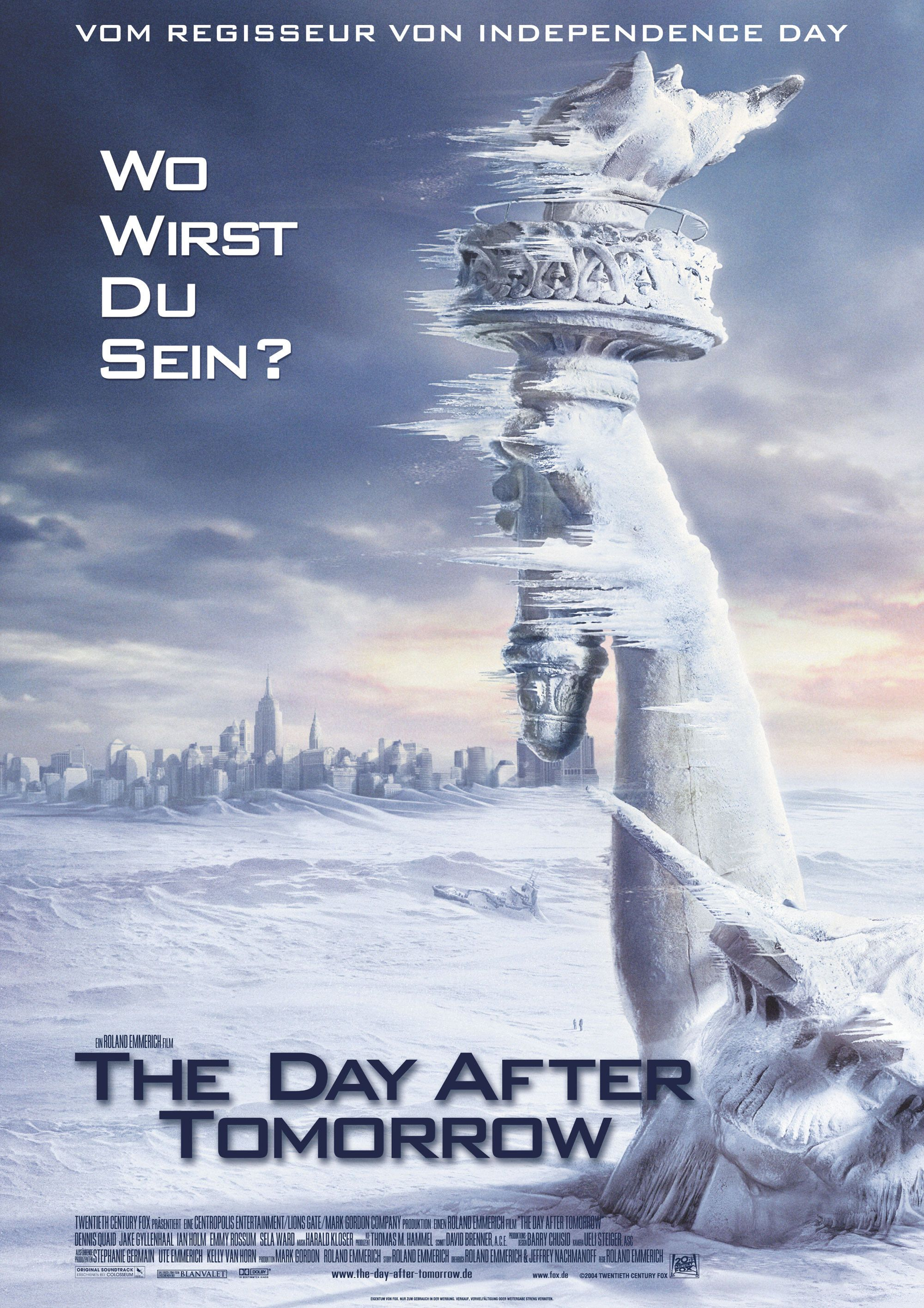 The Day After Tomorrow Películas De Aventuras Peliculas Carteles De Cine