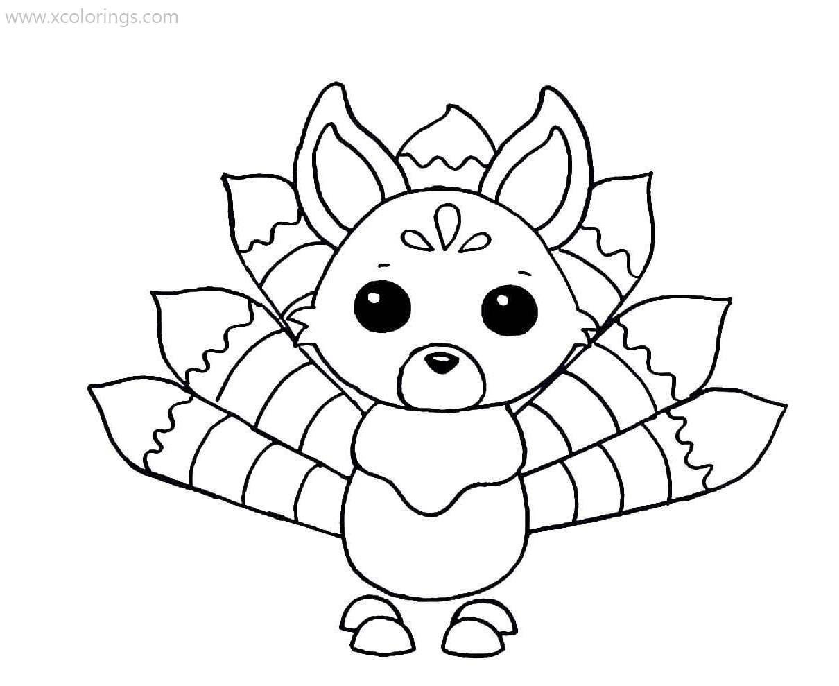 Roblox Adopt Me Coloring Pages Kitsune Pets Drawing Coloring Pages Cool Coloring Pages