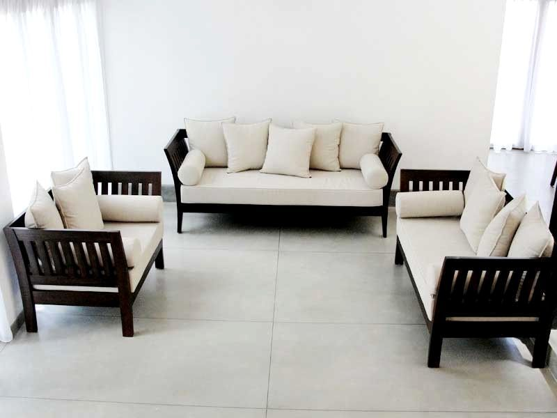 Latest wooden sofa designs with price table and chair for Latest drawing room furniture