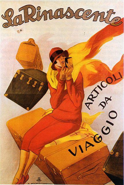 Marcello Dudovich - Articoli da viaggio, 1925 #TuscanyAgriturismoGiratola