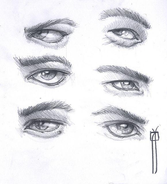 Procesos De Dibujo Ojos De Hombre Dibujos De Ojos Imagenes De Ojos