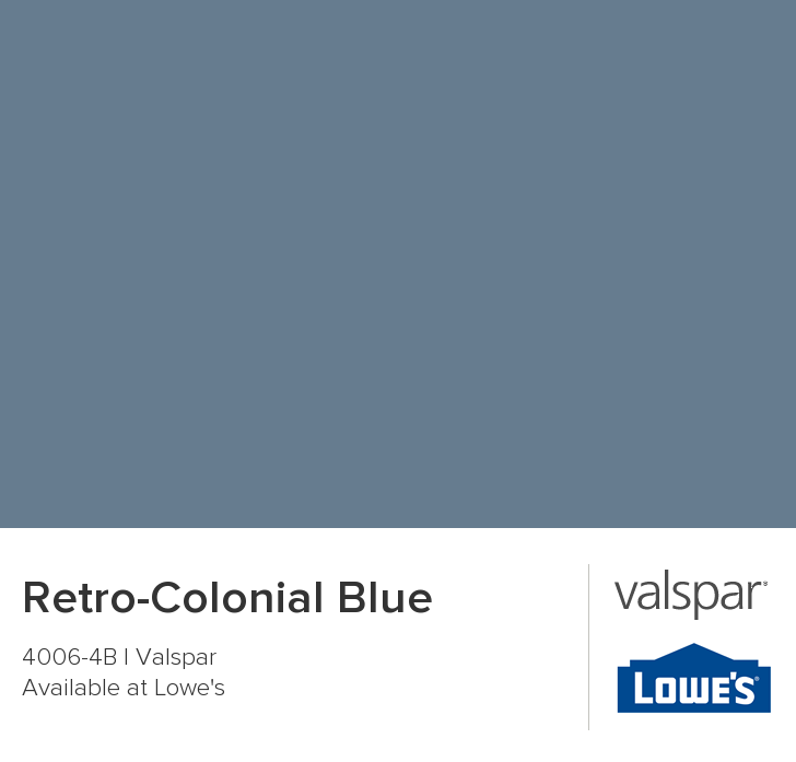Retro Colonial Blue From Valspar Valspar Paint Colors Blue Painted Walls Valspar