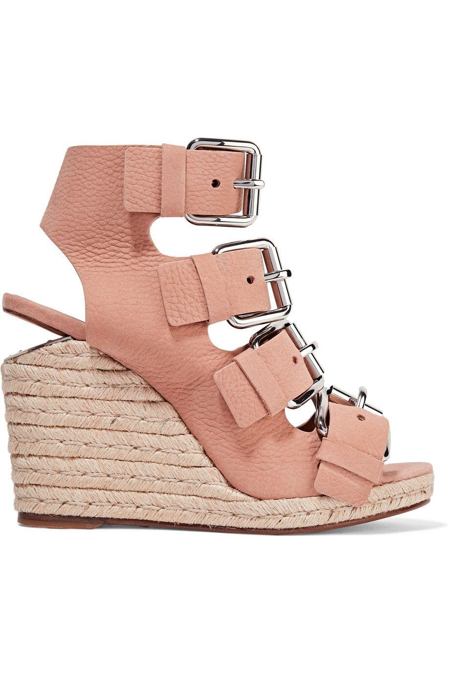 Jo nubuck wedge sandals | ALEXANDER WANG | Sale up to 70% off