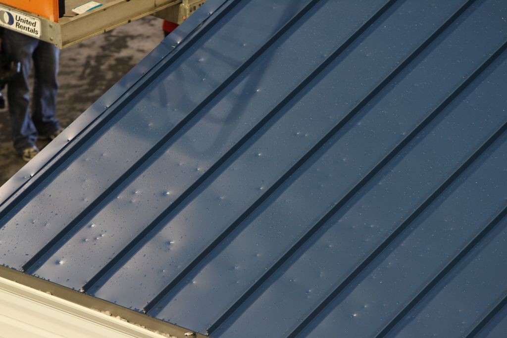 Hail damage on metal roof A metal roof installed over