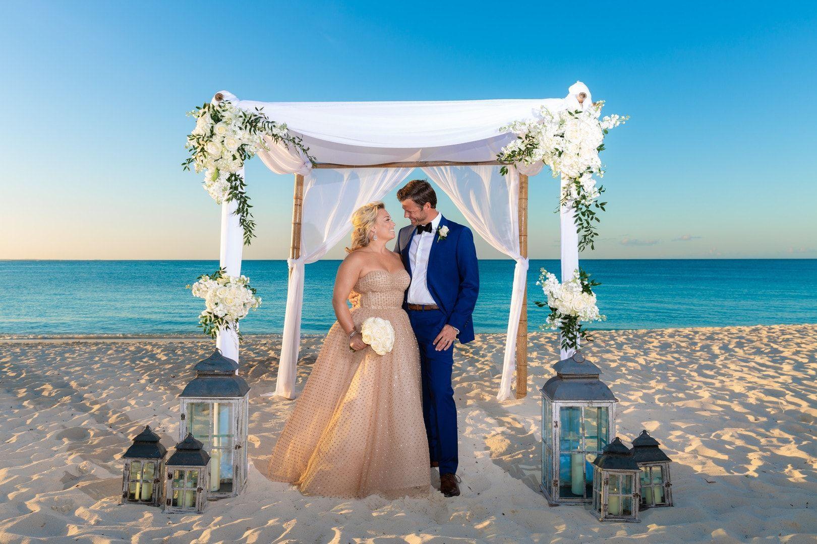 Classy Wedding For A Non Traditional Bride In The Turks Caicos Islands Adriana Weddings In 2020 Outdoor Wedding Altars Classy Wedding Turks And Caicos Wedding