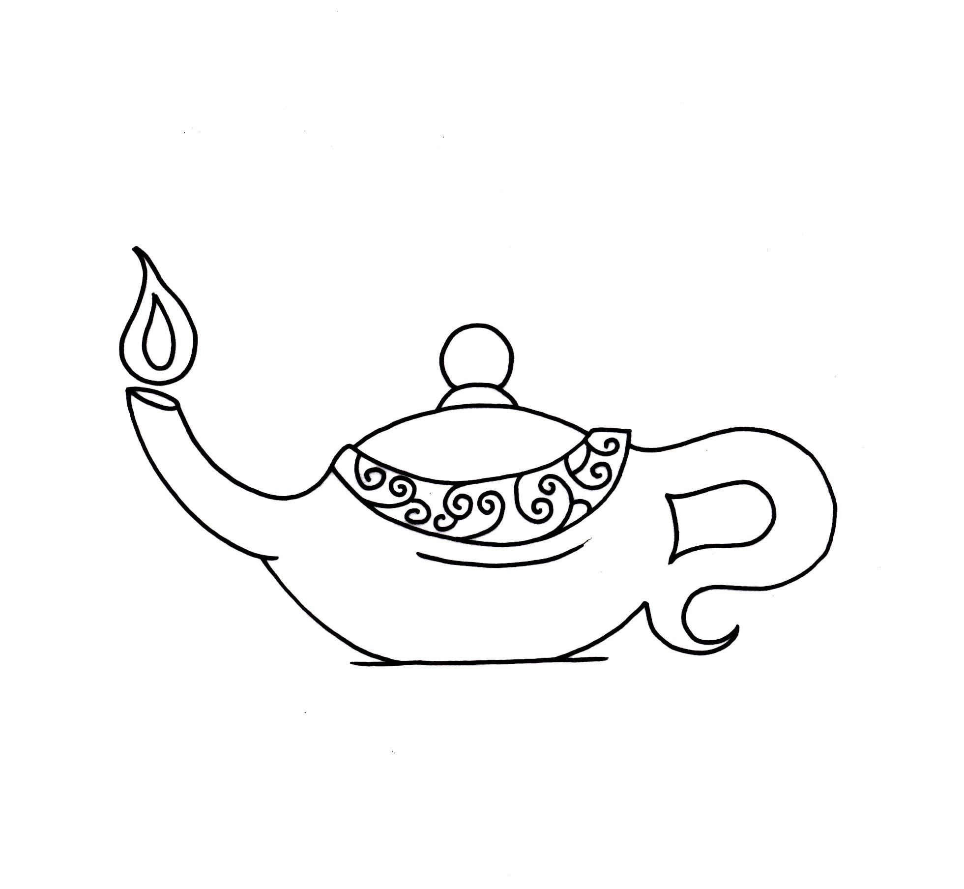 Oil Lamp Coloring Page Coloring Pages Oil Lamps Color
