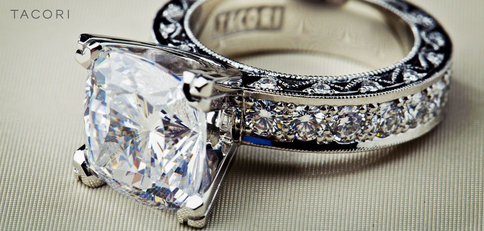 12 best images about tacori on pinterest diamonds beauty and vintage style engagement rings - Tacori Wedding Ring