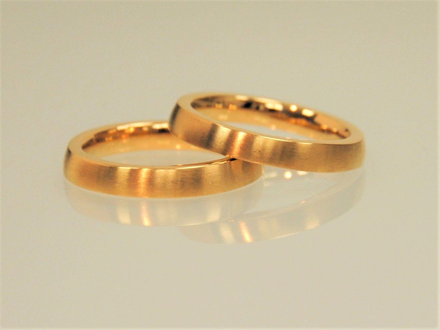 Steckring TWINS MATT Gold | Paar, Mehrere and Je