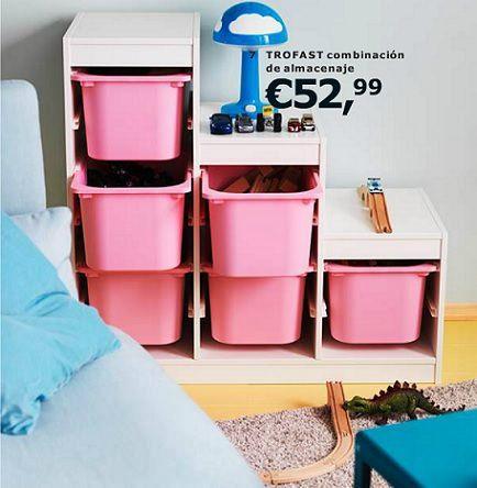 Almacenaje trofast ikea 2014 habitacion nico pinterest - Ikea perchas ninos ...