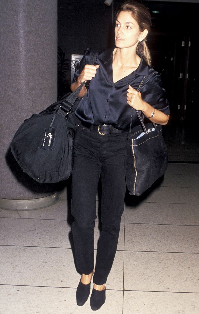 Hold On: Did '90s Cindy Crawford Invent Airport Style? -   Awesome 90's iconic style ideas