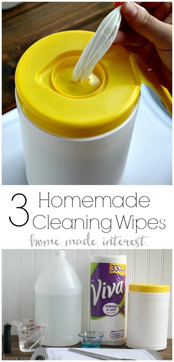 Three Homemade Cleaning Wipes Recipes | Home. Made. Interest.