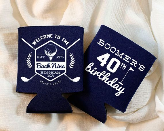 Personalized Golf Birthday Koozies! Any name, initial, color combination, style!! CHOOSE UP TO 4 KOOZIE COLORS WHEN ORDERING OVER 50 QUANTITY!! *