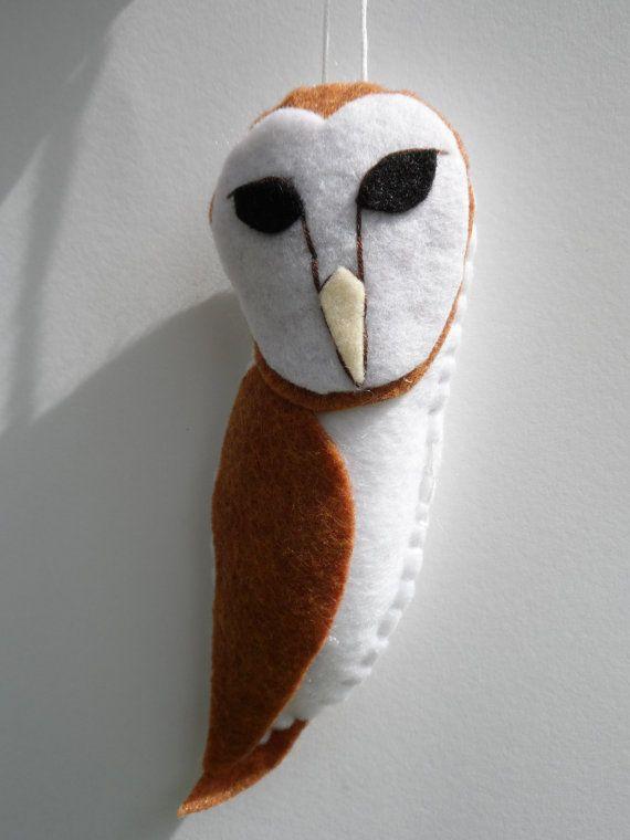 Hey, I found this really awesome Etsy listing at https://www.etsy.com/listing/189729458/felt-bird-ornament-felt-barn-owl