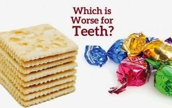 Did you know that potato chips can be harder on kids' teeth than candy? Starchy foods can get stuck