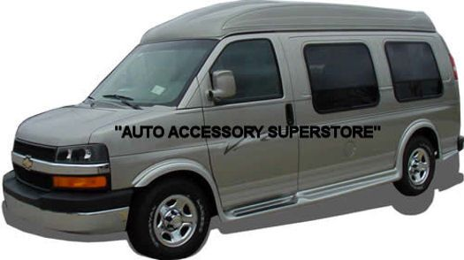 Chevy Express Van Check Out Our Full Flare Style Of Running Boards Which Truly Adds Stunning Looks Includes Molded Fender Flares Chevy Express Vans Chevy Van